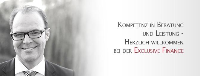 Sönke Liebig - Kompetenz in Beratung und Leistung - Herzlich willkommen bei der Exclusive Finance